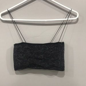 Forever21 black/gray sparkly bandeau